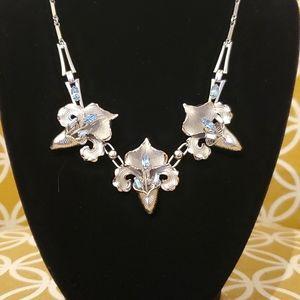 Vintage Bond Boyd Sterling flower necklace